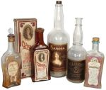vintage hairdressing bottles
